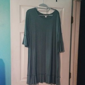 Lauren Conrad 3/4 Ruffle Sleeve Dress